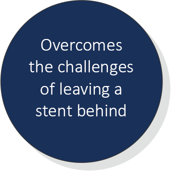 Overcomes the challenges of leaving a stent behind